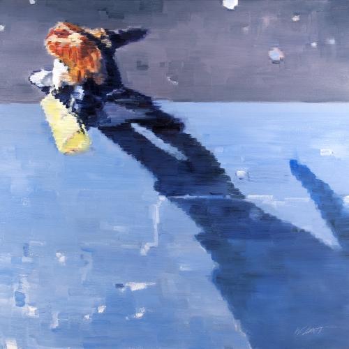 original figurative painting, Pixel Impressionism