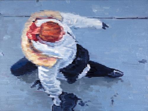 original Impressionistic figure oil painting by award-winning figurative artist Warren Keating