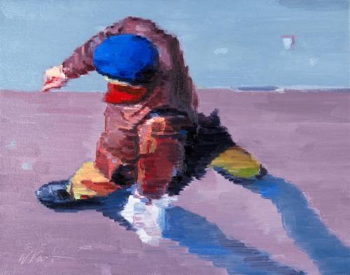 Impressionistic figurative painting